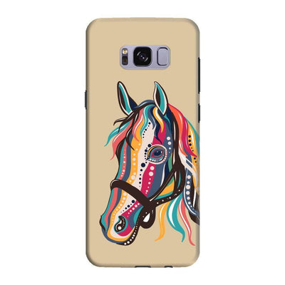 The Free Spirited Horse Slim Case And Cover For Galaxy S8 - Brown