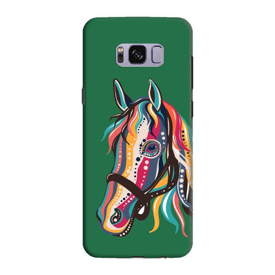 The Free Spirited Horse Slim Case And Cover For Galaxy S8 - Green
