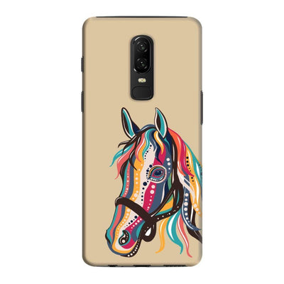 The Free Spirited Horse Slim Case And Cover For Oneplus 6 - Brown