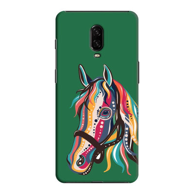 The Free Spirited Horse Slim Case And Cover For Oneplus 6T - Green