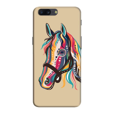 The Free Spirited Horse Slim Case And Cover For Oneplus Five - Brown
