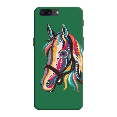 The Free Spirited Horse Slim Case And Cover For Oneplus Five - Green