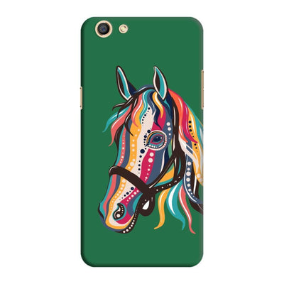 The Free Spirited Horse Slim Case And Cover For Oppo F3 - Green