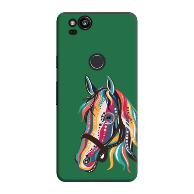The Free Spirited Horse Slim Case And Cover For Pixel 2 - Green