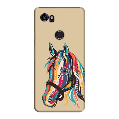 The Free Spirited Horse Slim Case And Cover For Pixel 2 Xl - Brown