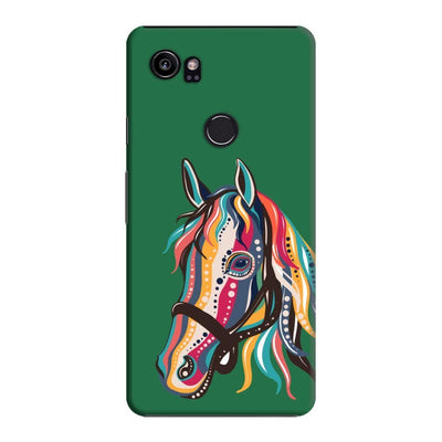 The Free Spirited Horse Slim Case And Cover For Pixel 2 Xl - Green