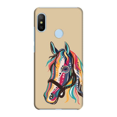 The Free Spirited Horse Slim Case And Cover For Redmi 6 Pro - Brown