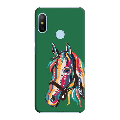 The Free Spirited Horse Slim Case And Cover For Redmi 6 Pro - Green