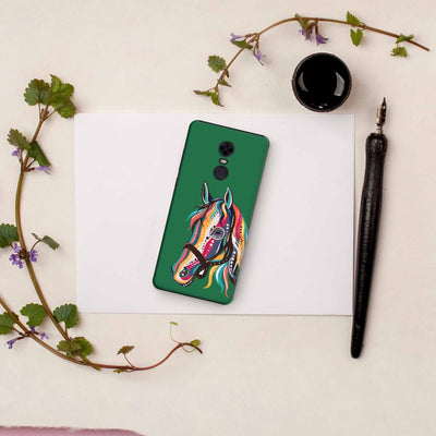 The Free Spirited Horse Slim Case And Cover For Redmi Note 5