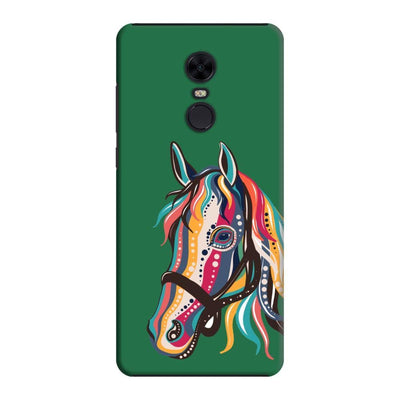 The Free Spirited Horse Slim Case And Cover For Redmi Note 5 - Green