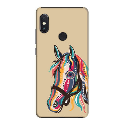 The Free Spirited Horse Slim Case And Cover For Redmi Note 5 Pro - Brown