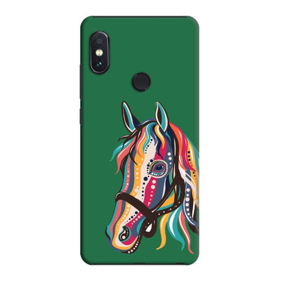 The Free Spirited Horse Slim Case And Cover For Redmi Note 5 Pro - Green