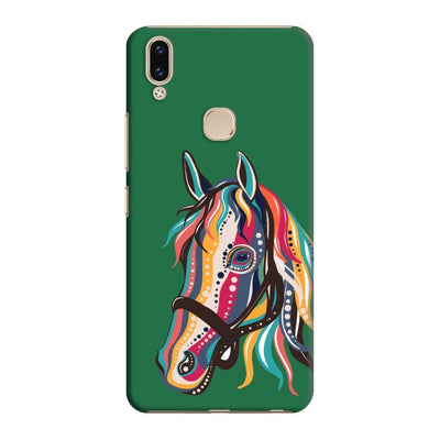 The Free Spirited Horse Slim Case And Cover For Vivo V9 - Green