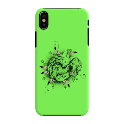 The Little Fox Slim Case And Cover For Iphone X - Neon Green