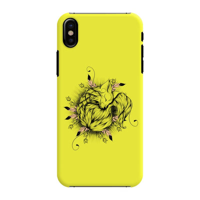 The Little Fox Slim Case And Cover For Iphone X - Neon Yellow