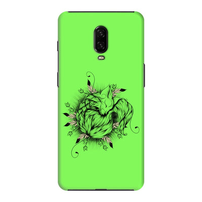 The Little Fox Slim Case And Cover For Oneplus 6T - Neon Green
