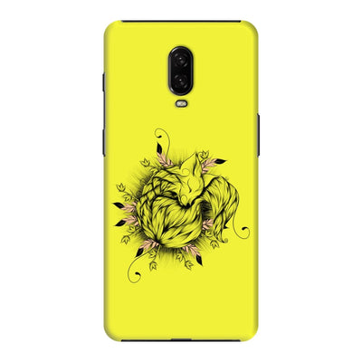 The Little Fox Slim Case And Cover For Oneplus 6T - Neon Yellow