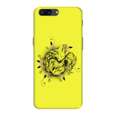 The Little Fox Slim Case And Cover For Oneplus Five - Neon Yellow