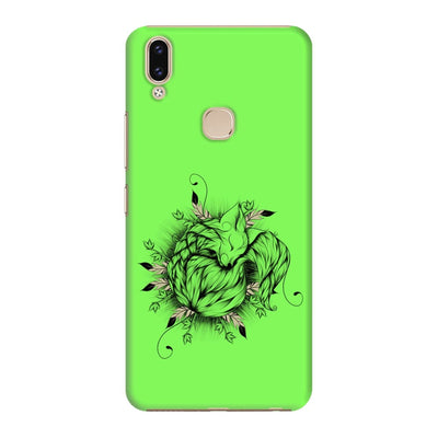 The Little Fox Slim Case And Cover For Vivo V9 - Neon Green