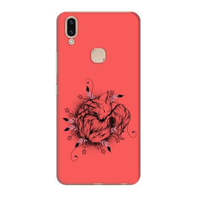 The Little Fox Slim Case And Cover For Vivo V9 - Neon Red