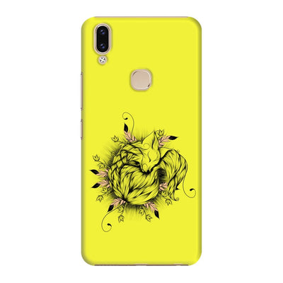 The Little Fox Slim Case And Cover For Vivo V9 - Neon Yellow