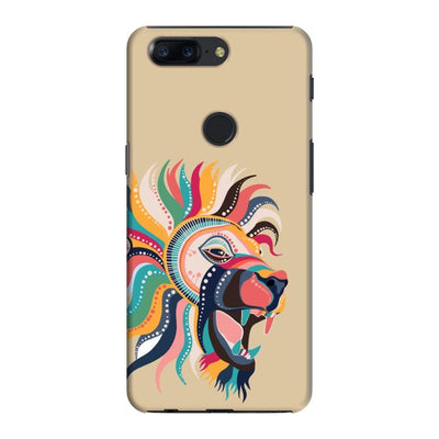 The Magnificent Lion Slim Case And Cover For Oneplus 5T - Brown