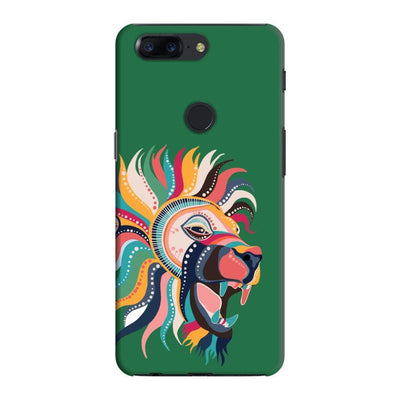 The Magnificent Lion Slim Case And Cover For Oneplus 5T - Green