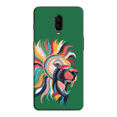 The Magnificent Lion Slim Case And Cover For Oneplus 6T - Green