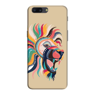 The Magnificent Lion Slim Case And Cover For Oneplus Five - Brown