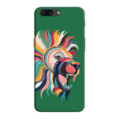 The Magnificent Lion Slim Case And Cover For Oneplus Five - Green