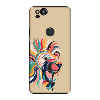 The Magnificent Lion Slim Case And Cover For Pixel 2 - Brown