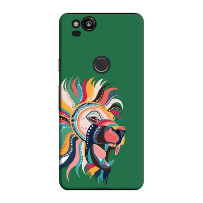 The Magnificent Lion Slim Case And Cover For Pixel 2 - Green