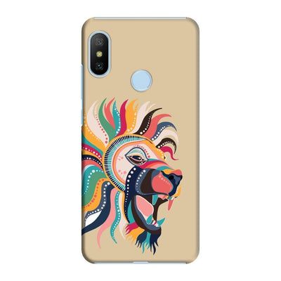 The Magnificent Lion Slim Case And Cover For Redmi 6 Pro - Brown