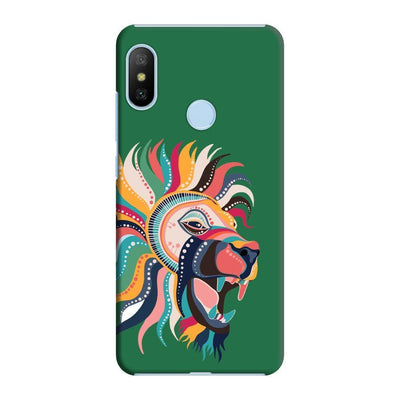 The Magnificent Lion Slim Case And Cover For Redmi 6 Pro - Green
