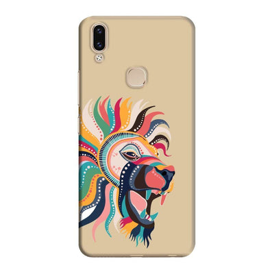 The Magnificent Lion Slim Case And Cover For Vivo V9 - Brown