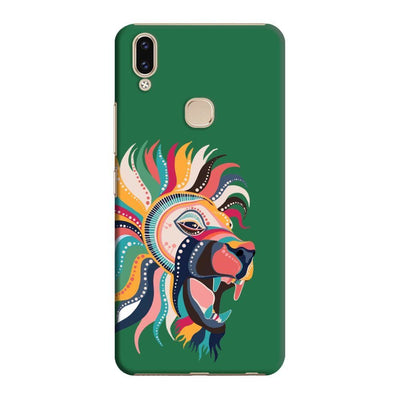 The Magnificent Lion Slim Case And Cover For Vivo V9 - Green