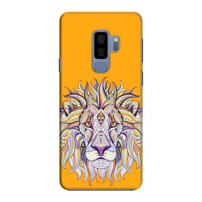 The Majestic King Slim Case And Cover For Galaxy S9 Plus - Yellow
