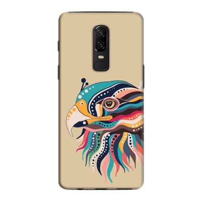 The Observant Eagle Slim Case And Cover For Oneplus 6 - Brown