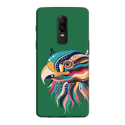 The Observant Eagle Slim Case And Cover For Oneplus 6 - Green