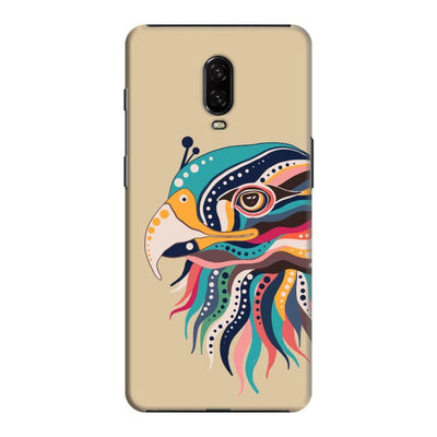 The Observant Eagle Slim Case And Cover For Oneplus 6T - Brown