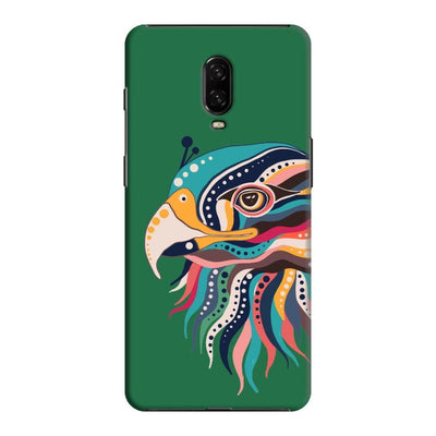 The Observant Eagle Slim Case And Cover For Oneplus 6T - Green