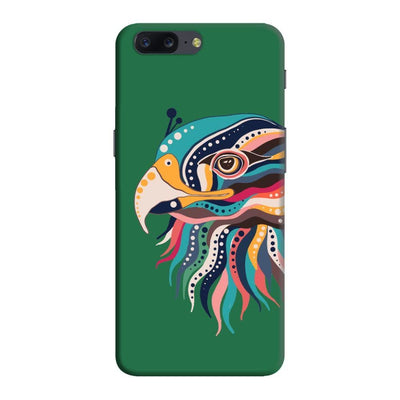 The Observant Eagle Slim Case And Cover For Oneplus Five - Green