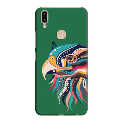 The Observant Eagle Slim Case And Cover For Vivo V9 - Green