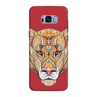 The Unstoppable Tiger Slim Case And Cover For Galaxy S8 - Red