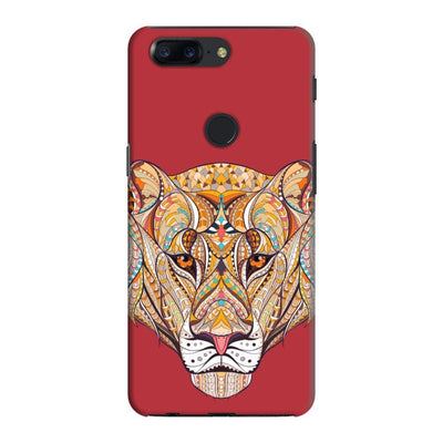 The Unstoppable Tiger Slim Case And Cover For Oneplus 5T - Red