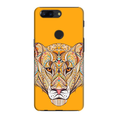 The Unstoppable Tiger Slim Case And Cover For Oneplus 5T - Yellow