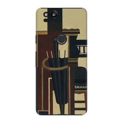 Umbrella And Bowler Hat Slim Case For Pixel 2