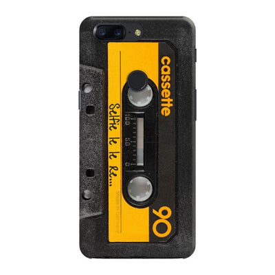 Vintage Cassette-Yellow DESIGNER Slim Case And Cover For OnePlus 5T