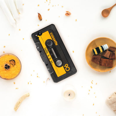 Vintage Cassette-Yellow DESIGNER Slim Case And Cover For Pixel 2