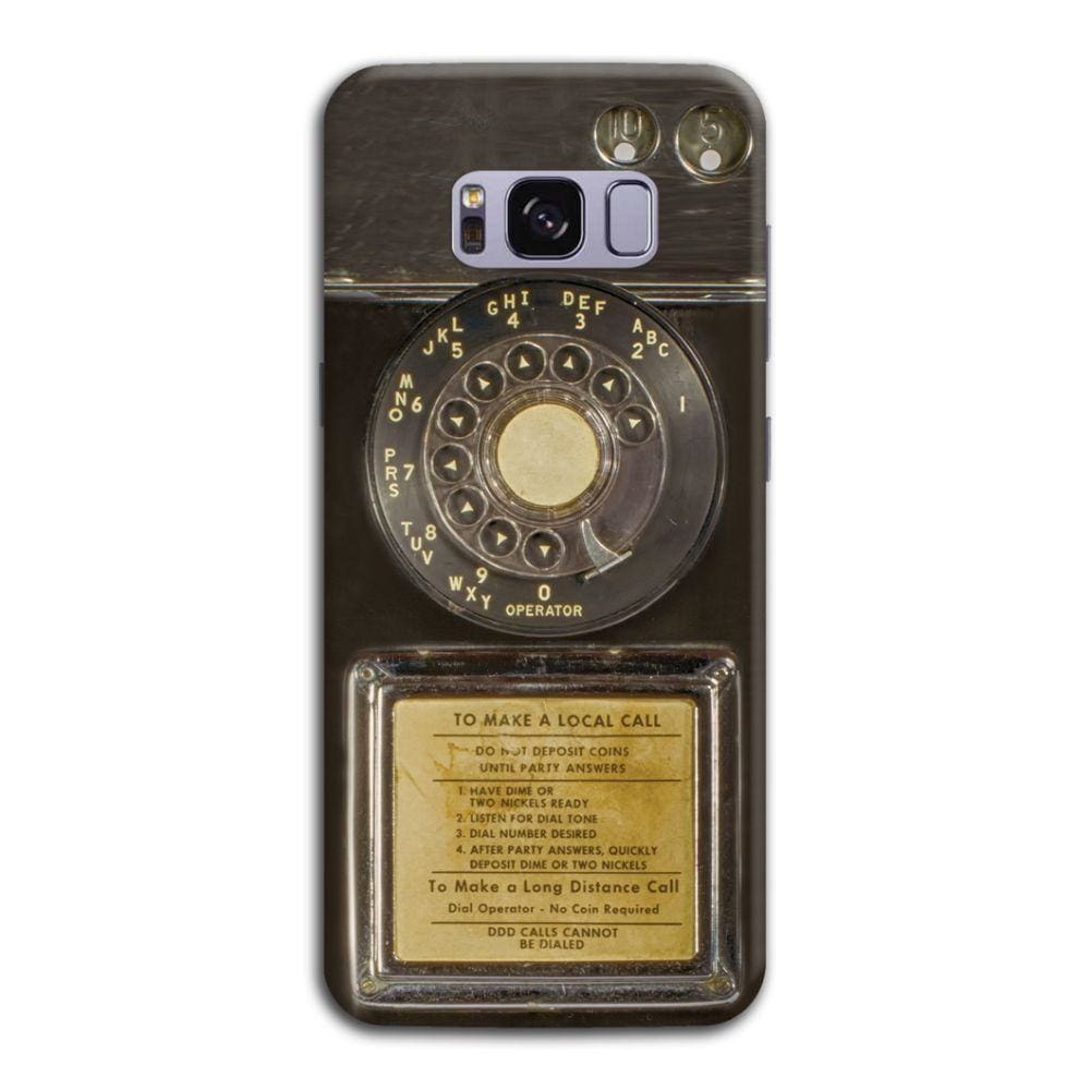 Vintage Slot Phone A.K.A The Public Payphone Slim Case And Cover For Galaxy S8 Plus